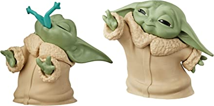 "Star Wars The Bounty Collection The Child Collectible Toys 2.2-Inch The Mandalorian ""Baby Yoda"" Froggy Snack, Force Moment Figure 2-Pack"