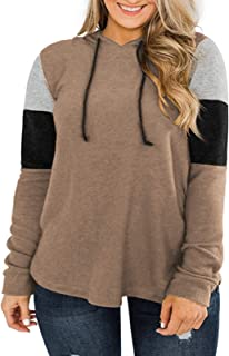Sponsored Ad - DOLNINE Womens Plus-Size Hoodies Long Sleeve Sweatshirts Color Block Tops