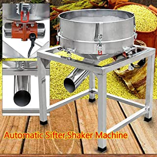 Automatic Powder Sifter Shaker Machine,110V Electric Coating Powder Vibration Sieving Flour Sieve Machine Stainless Steel Industrial 300W With 2 Screens US Stock