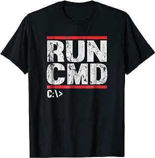 Run CMD Distressed Funny T-shirt