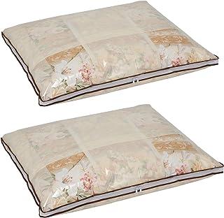 アストロ 羽毛布団 収納袋 2枚 シングル用 ベージュ 不織布 薄型 168-06