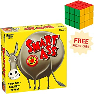 University Games Smart Ass Trivia Board Game with Free Brybelly Puzzle Cube