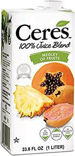 Ceres 100% All Natural Pure Fruit Juice Blend, Medley of Fruits - Gluten Free, Rich in Vitamin C, No Added ...