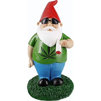 Gnometastic Smoking Gnome Indoor Outdoor Garden Statue, 8.5 Inches
