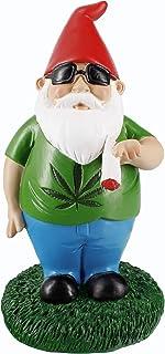 Gnometastic Smoking Gnome Indoor Outdoor Garden Gnome Statue 8.5 inches