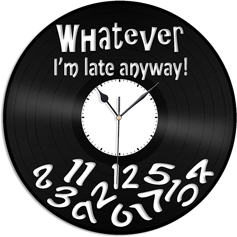 VinylShopUS Procrastinator S Vinyl Wall Clock Fashioned Unique Gift Home And Office Room Decoration