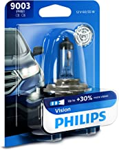 Philips 9003PRB1 9003 Upgrade Headlight Bulb with up to 30% More Vision, 1 Pack