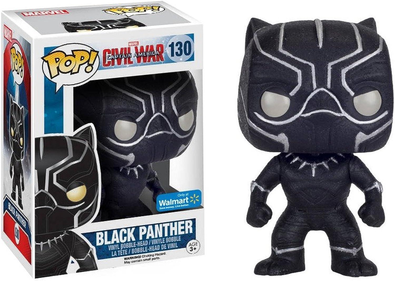 Funko Pop  Marvel Civil War  130 Black Panther Glitter exclusive