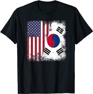 Half South Korean Flag   Vintage USA Gift T-Shirt