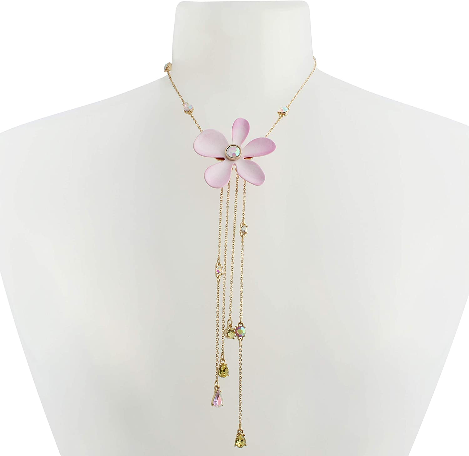 Betsey Johnson Flower Y-Necklace