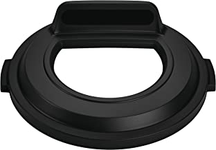 Rubbermaid Commercial BRUTE Recycling Lid, Open Top, 32 gal - Black, 2017738