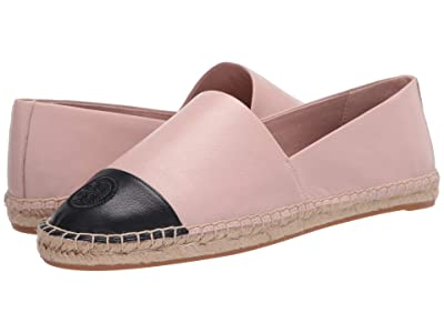 Tory Burch Color Block Flat Espadrille (Sea Shell Pink) Women