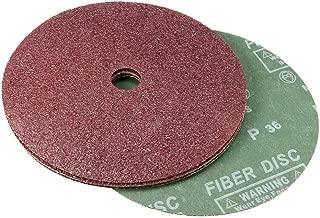 uxcell 7-Inch x 7/8-Inch Aluminum Oxide Resin Fiber Discs, Center Hole 36 Grit Sanding Grinding Discs, 5 Pack