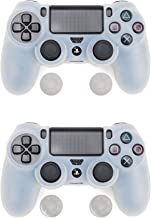 2 units of Silicone Grip Cover for PlayStation 4 PS4 Controller- white color
