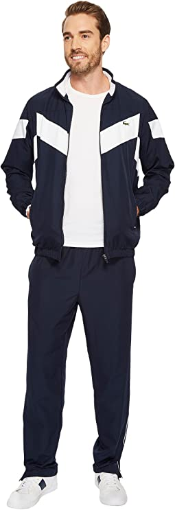Lacoste - Diamond Weave Taffeta Piping Tracksuit