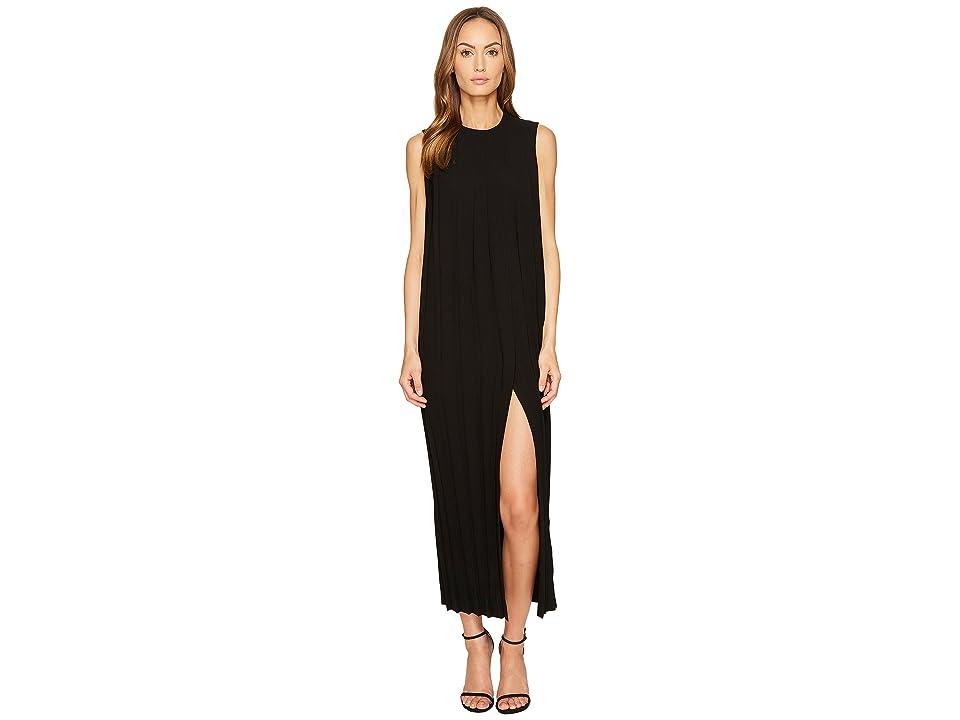 Neil Barrett Sleeveless Pleated Long Dress (Black) Women