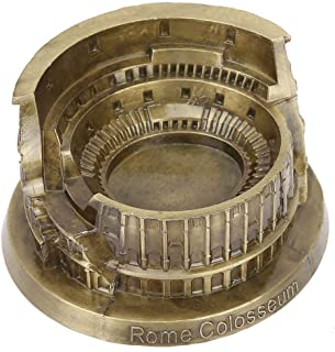 Biitfuu Roman Colosseum Statue Metal Ornament Figurine Hand Soldering Home Decor Cast Art Crafts Gifts