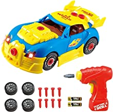 Think Gizmos Take Apart Toy Racing Car - Construction Toy Kit for Boys and Girls Aged 3 4 5 6 7 8 - Build Your Own Car Kit Version 3 STEM Toy