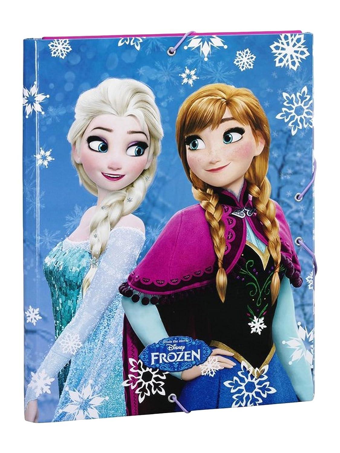 動力学アルネ定義ディズニー アナと雪の女王 フォルダー ゴムフラップ付き ブルー (SAFTA 511615068)