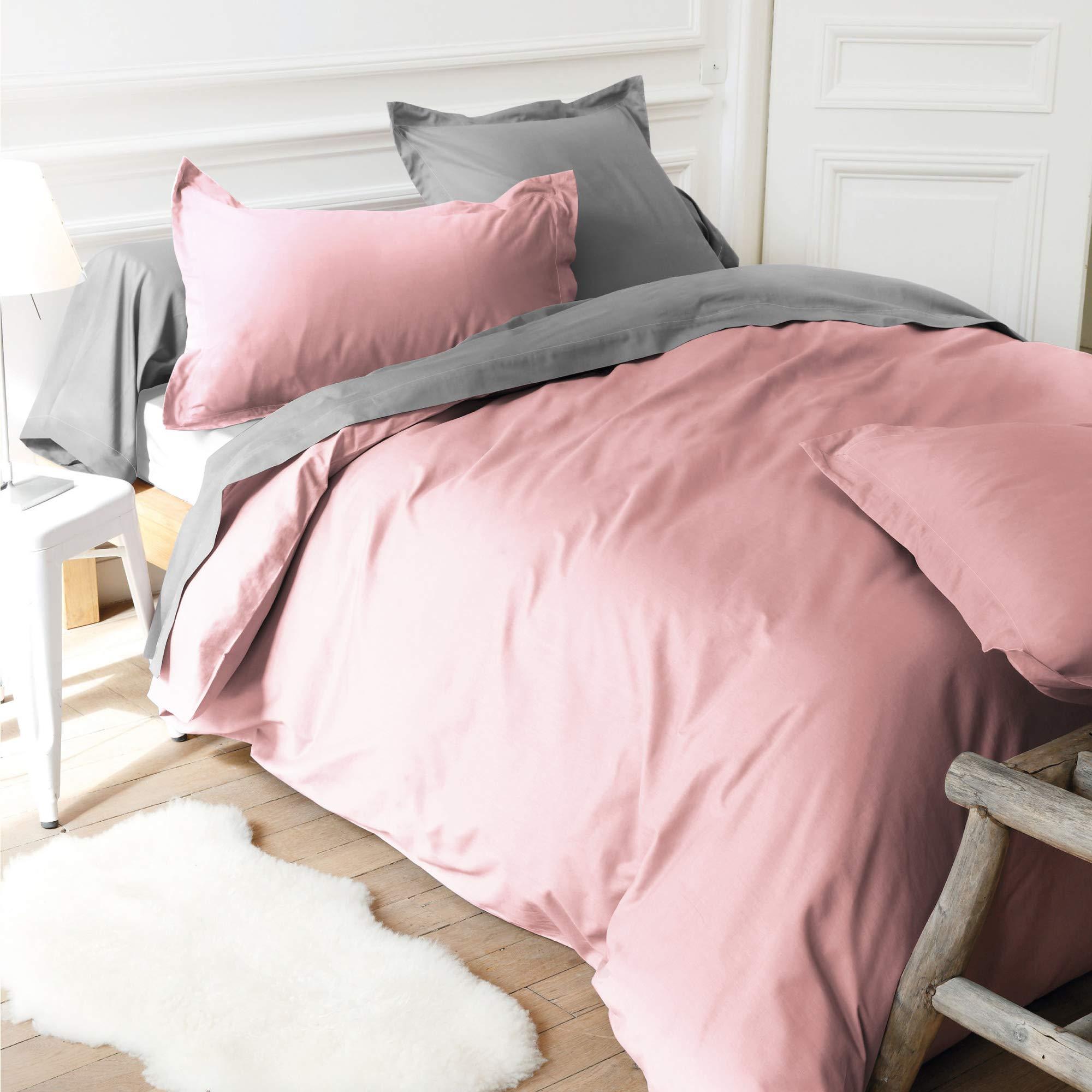 Linnea Sábana Bajera de 180 x 200 cm, Gorro de 40 cm, 100% algodón, Color Rosa: Amazon.es: Hogar