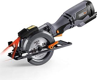 comprar comparacion TACKLIFE Sierra Circular 710 W Mini Sierra Circular, Mango Metálico, 6 Cuchillas (120 mm y 115 mm), Capacidad de Corte: 43...