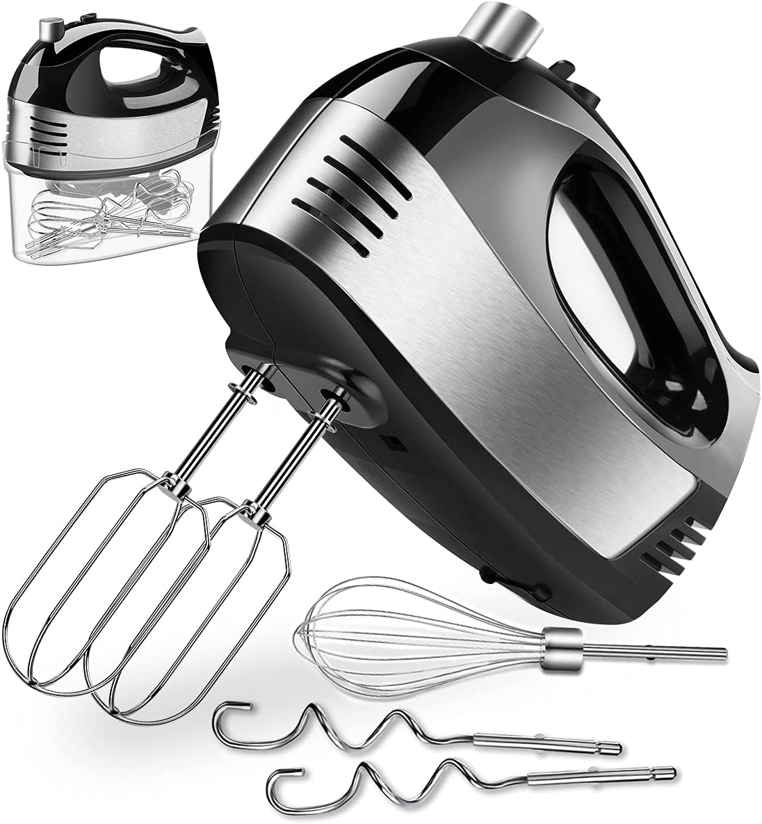 Hand Mixer Electric Easy-to-use Cusinaid Turbo Indianapolis Mall 5-Speed with