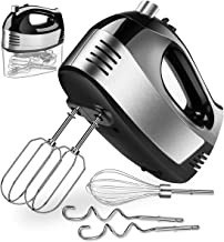Hand Mixer Electric, Cusinaid 5-Speed Hand Mixer with Turbo Handheld Kitchen Mixer Includes Beaters, Dough Hooks and Stora...