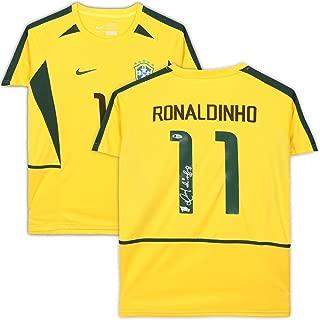 Ronaldinho Brazil Autographed National Team Nike Jersey - BAS - Fanatics Authentic Certified - Autographed Soccer Jerseys