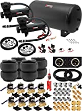 Vixen Air Suspension Kit for Truck/Car Bag/Air Ride/Spring. On Board System- Dual 200psi Compressor, 6 Gallon Tank. for Boat Lift,Towing,Lowering,Load Leveling,Onboard Train Horn VXX3804FB/4863DB