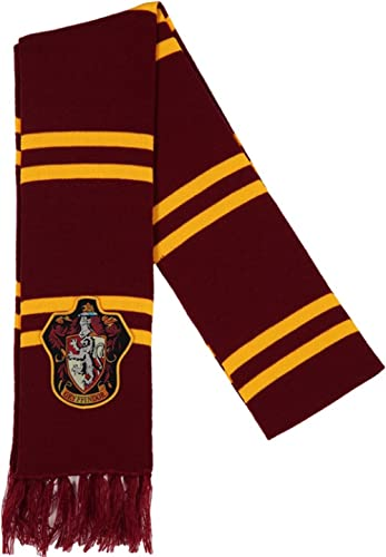 bioworld Unisex Harry Potter Gryffindor Patch Knit Scarf (Multicolour, Free Size)