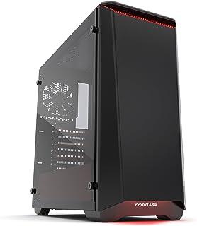 Phanteks Gehäuse Midi-Tower Negro - Caja de Ordenador (Midi-Tower, PC, Acrilonitrilo butadieno estireno (ABS), Negro, ATX,EATX,Micro ATX,Mini-ATX, Rojo)