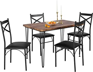 VECELO Dining Room Table Set with 4 Chairs Ideal for Home...