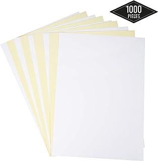 1000 Hojas de Papel Adhesivo A4 (1 Etiqueta por Hoja) - Papel Pegatina Blancas para Imprimir - Ideal para Etiquetas en Paquetes, Cajas etc.