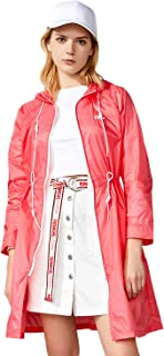 TFO Women's Lightweight Waterproof Windproof Long Hooded Jackets UV Protect+Quick Dry Packable Skin Coat