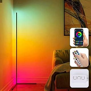 Lightsjoy Lampadaire LED RGB Lampadaire sur Pied avec Télécommande 20W Lampe sur Pied APP Contrôle Moderne 158cm Lampadair...