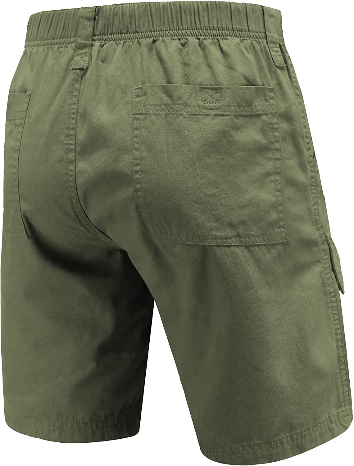 VAYAGER Mens Cargo Shorts 100/% Cotton Lightweight Multi Pocket Casual Outdoor Hiking Shorts