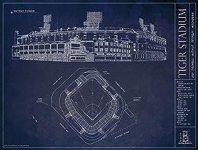 Tiger Stadium Blueprints Print