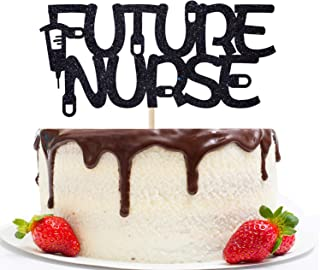 Future Nurse Cake Topper - Congrats Nurse - RN BSN Grad Party Supply - Nurse Graduation Cake Decor