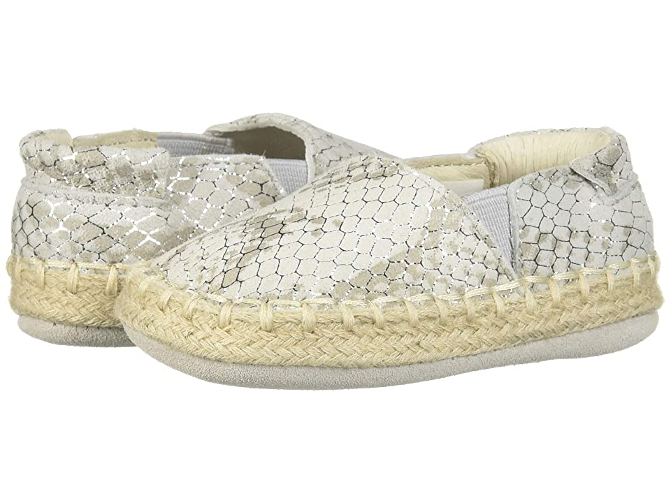 Robeez Ellie Espadrille First Kicks (Infant/Toddler) (Silver) Girl