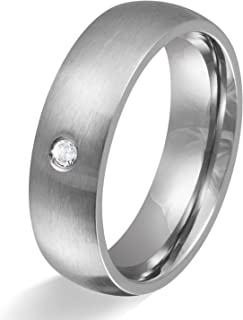 1BEAUTIFUL Stainless Steel, Engagement Wedding Ring With Laser Etched 50(15.9)