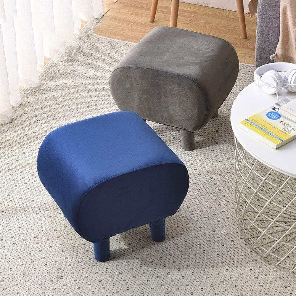 YUMUO Tabourets Modernes rembourrés Repose-Pieds canapé Tissu Ottomans chaises pour Salon F1224 (Couleur: Bleu) 4