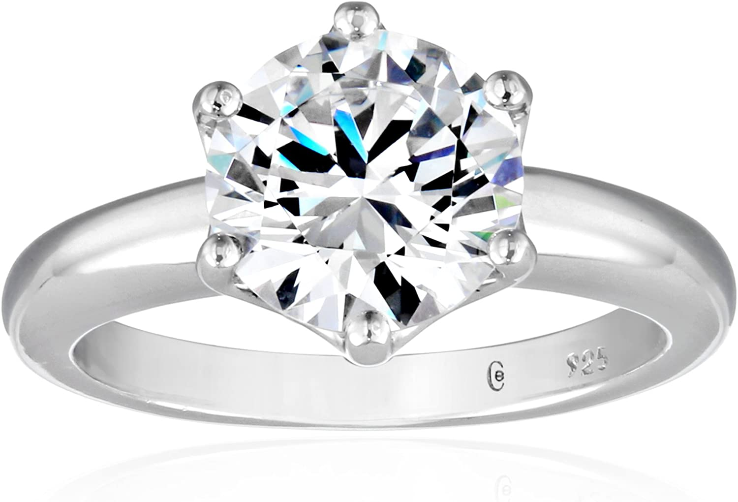 Amazon Collection Platinum or Gold Max 44% OFF Round Reservation Plated Sterling Silver