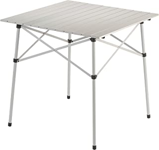 ValueHall Portable Camping Table Outdoor Roll Up Table Lightweight Aluminum Collapsible Picnic Table with Hard-Topped Folding Table for Camping Hiking Picnic Travel BBQ V7D05