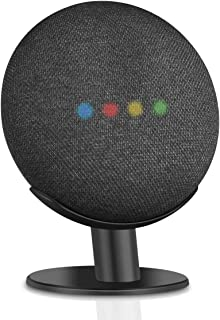 Caremoo Pedestal Stand for Google Home Mini, Metal Desktop Mount for Your Google Home Mini Voice Assistant, Sound Visibility and Appearance Improving (Black)
