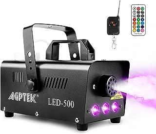 Dimmaskin, AGPtEK rökmaskin med 13 färgade LED-lampor och RGB-effekt, 500 W och 2 000 CFM med 2 kabelanslutna och radiofjä...