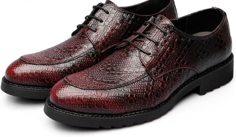 DHFUD Spring Retro shoes British Men's Pointed Business Dress shoes Lace Men's shoes