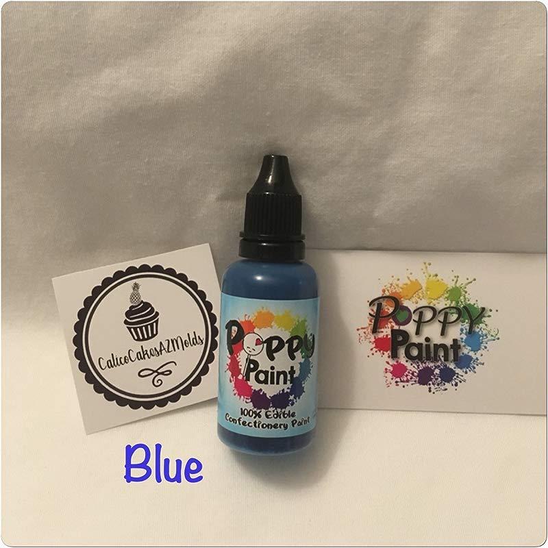 Blue Poppy Paint Fondant Chocolate Gumpaste