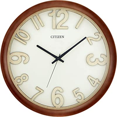Citizen Clocks Citizen CC2059 Gallery Wall Clock, Walnut