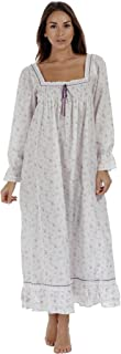 Martha Nightgown 100% Cotton Victorian Style - Sizes XS - 3X