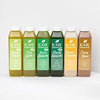 Raw Generation® 3-Day Low Sugar Juice Cleanse - 65% Less Sugar Than Other Cleanses/Juices with Superfoods / 100% Plant-Bas...